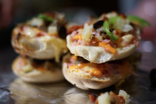 Dzilam de Bravo, Mexico: Mini-Pizza bread delights!