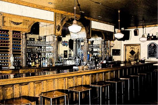 Breese, Ιλινόις: The well worn, friendly bar, that reminds me of a 100 year old bar I saw in Colorado