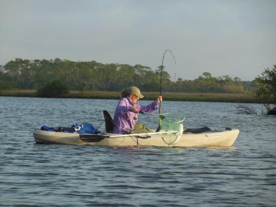 Port Orange, FL: Redfish from a kayak on Spruce Creek with Salty Dawg- awesome!