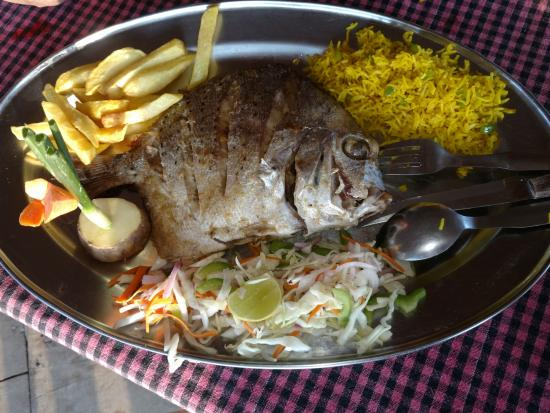 Pinacolada Beach Shack: Grilled Pomfret
