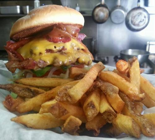 Kenai, AK: Hand-pressed burgers and fresh cut fries!