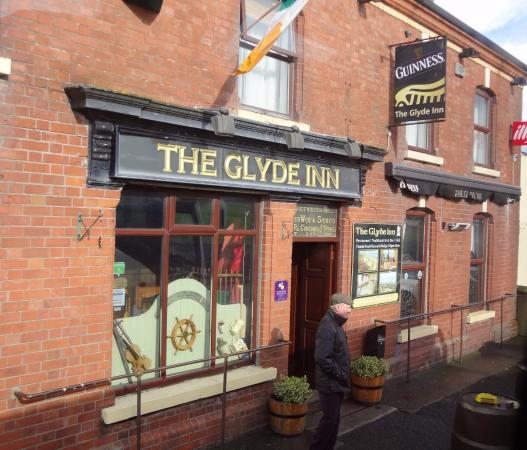 Michael at entrance of the Glyde Inn, Dunleer, Co. Louth, Ireland
