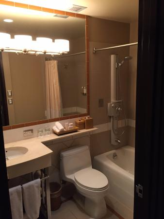 Inn at the WAC: Immediate hot water and a multi-head shower.
