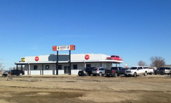 Twister's Burgers Fries & Mlts: West Side of Twisters in Winkler