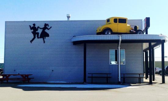 Twister's Burgers Fries & Mlts: North Side of Twisters in Winkler