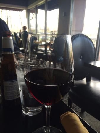 Kettering, OH: a glass of red wine