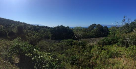 Kaunakakai, HI: View of the heiau from the rock overlook