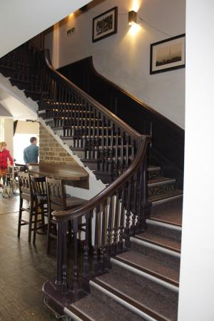 The Cathedral Hotel Restaurant: The original 1920 staircase
