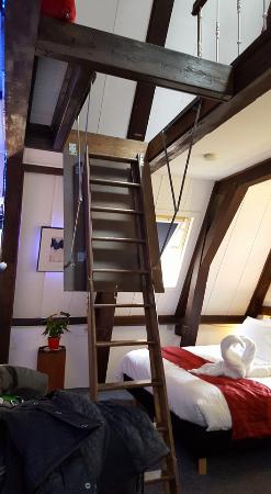Charming Tulip Of Amsterdam Bu0026B: Stairs To The Attic Of The Top Floor Room.
