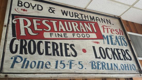Berlin, OH: My favorite meal (roast beef with mash; noodles on the side) & my old school favorite place!