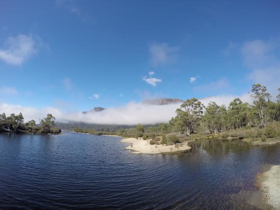 Wilderness Expeditions Tasmania Pty Ltd: Lake St Clair at the end of our journey