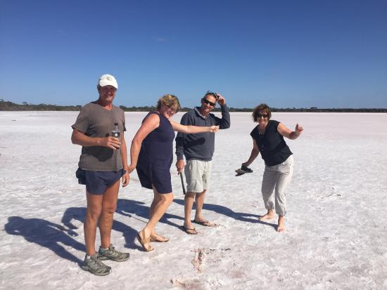 Meningie, Australia: Amazing place, take a spoon and plastic tub. Salt is beautiful. Pink tinge. Very salty and amazi