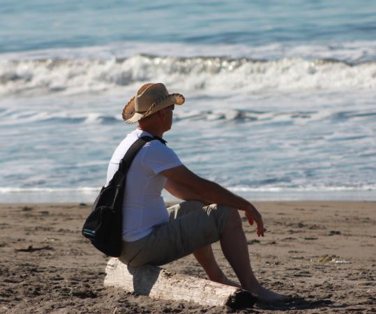 Relaxing on Muir Beach