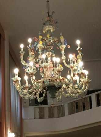 Lustre En Verre De Murano Picture Of Hotel Bonvecchiati Venice