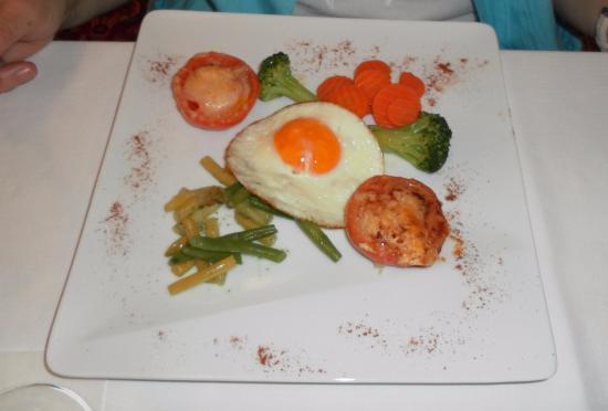 Hotel Bad Serneus: Der Gemüse-Teller für ca. 21CHF,....davon wird man nicht satt.