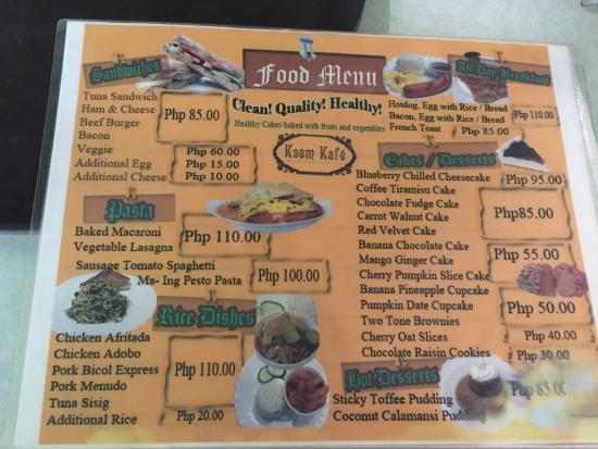 KSEM Coffee Shop : Foodmeny