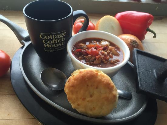 Westport, Canada: Soup,coffee & a biscuit only $6.95.