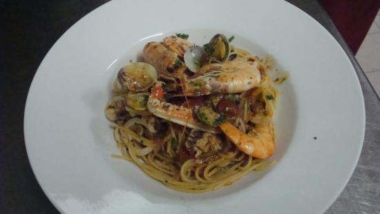 Tiers, Italia: Gasthof Edelweiss - Spaghetti allo Scoglio