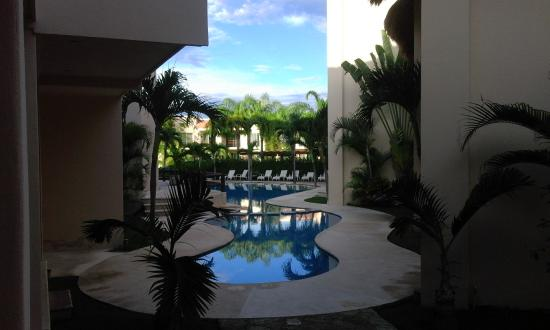 Coral Maya: The view from a room on the ground floor