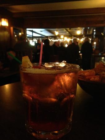 Sauk City, WI: A Wisconsin staple...the Brandy Old Fashioned! I like mine sweet.