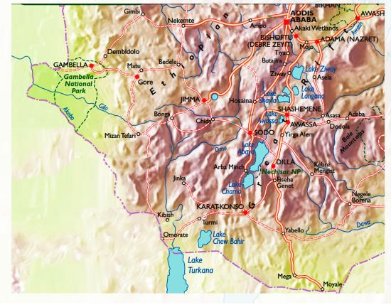 map of the valley - Picture of Omo Valley Tours, Addis Ababa ...