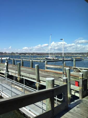 Stonington, CT: View from our table at lunch