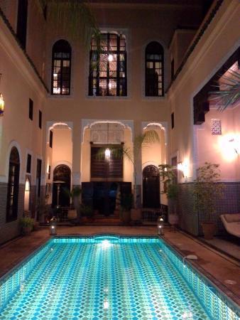 Riad Fes Baraka : notre chambre en face au rez de chaussée trop jolie