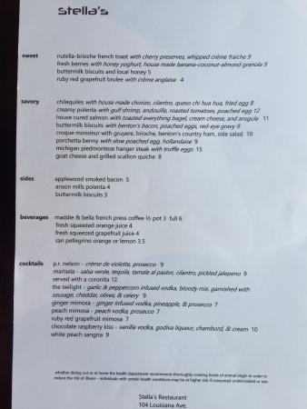Perrysburg, Οχάιο: Brunch menu