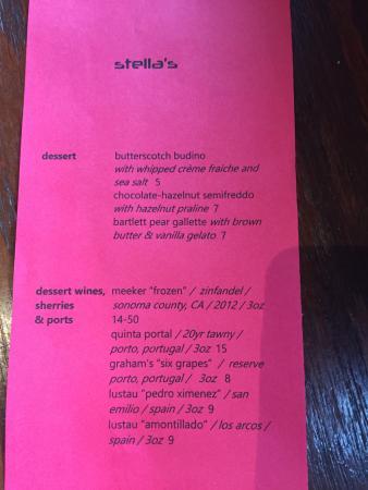 Perrysburg, Οχάιο: Dessert menu