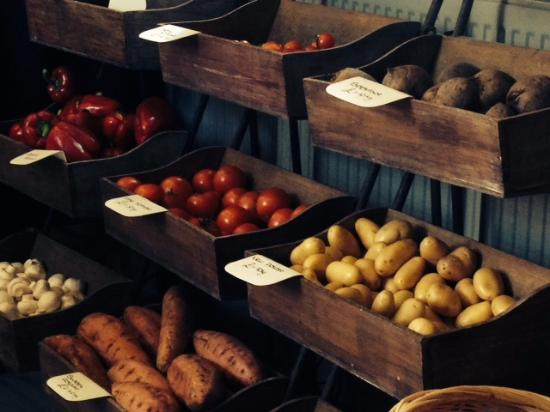 the Field Kitchen: Fresh fruit & veg for sale here too!
