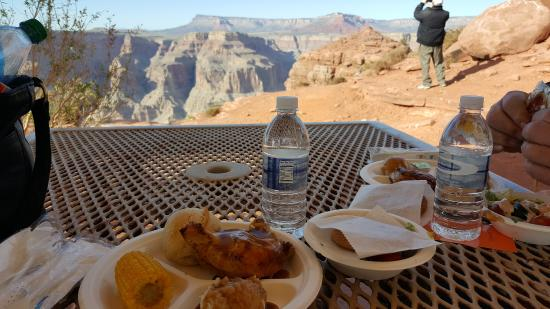 Grand Canyon Skywalk View From The Restaurant At Guano Point