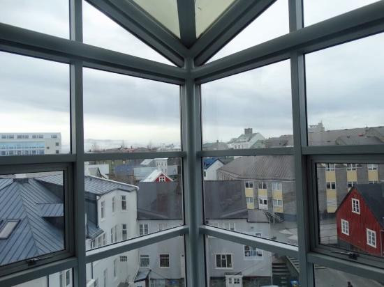 Reykjavik City Library: View from 5th floor chairs
