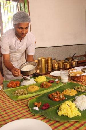 Kanadukathan, Hindistan: Typical chettinad meal
