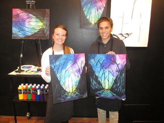 First wine canvas experience picture of wine and for Wine and paint indianapolis
