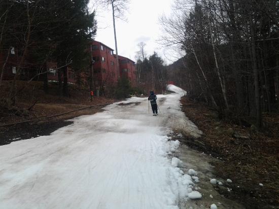 Bethel, ME: Beginner trail between Dreamaker and learnng slope
