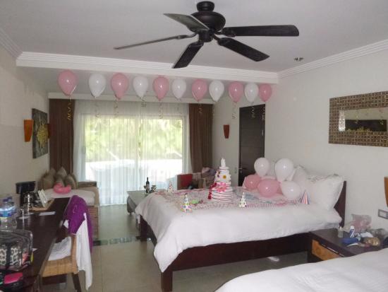 arreglo sorpresa de la habitación por el cumpleaños de mi ...