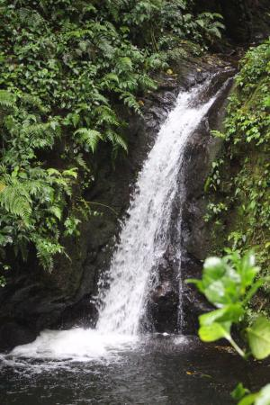 San Luis Waterfall: The lower part of the waterfall