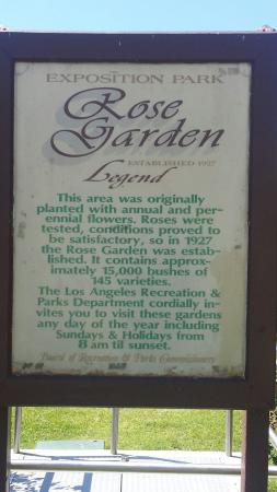 Exposition Park: Rose Garden legend