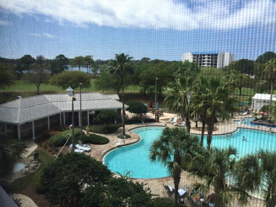 Marriott's Legends Edge at Bay Point: View of pool is from room 2401 Beach is St. Andrews Boardwalk is short walk from resort view the