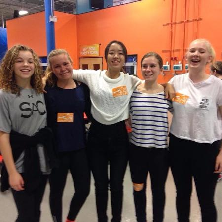 The Group of Friends at Sky Zone