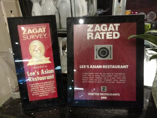 Lee S Asian Restaurant Zagat Rated