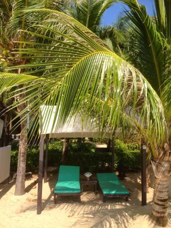 Andaman White Beach Resort: Private Liegen am Strand