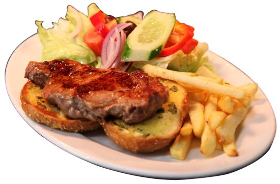 Grandfather's Moustache: Gourmet steak sandwich.