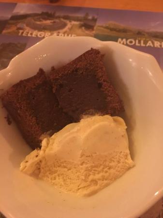 Termignon, Frankrike: gâteau au chocolat maison
