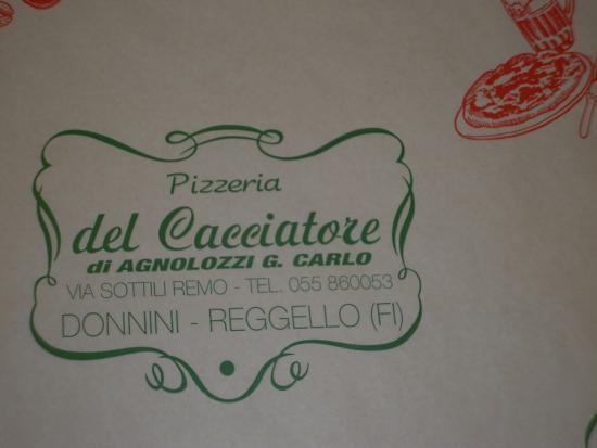 Pizzeria del Cacciatore: Nombre de la pizzeria