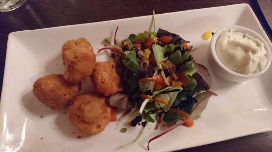 Tuam, Ierland: garlic mushrooms
