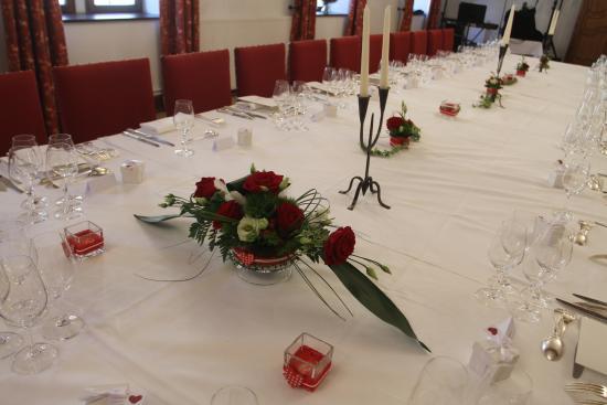 notre table de réception