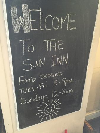 Menu - The Sun Inn Photo