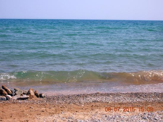 Prichal-Primorskiy Hotel: Вот в этом месте я обычно заходил в море.