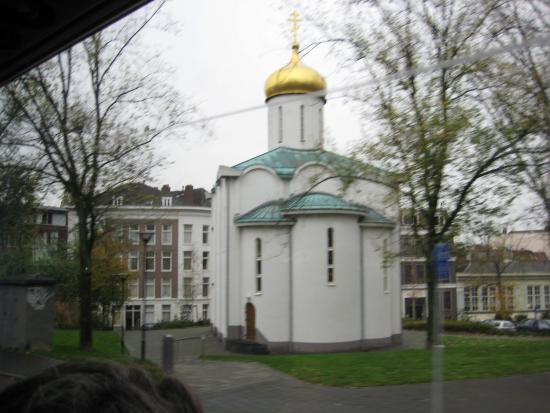 City and harbourwalk: City of many religions. An orthodox church